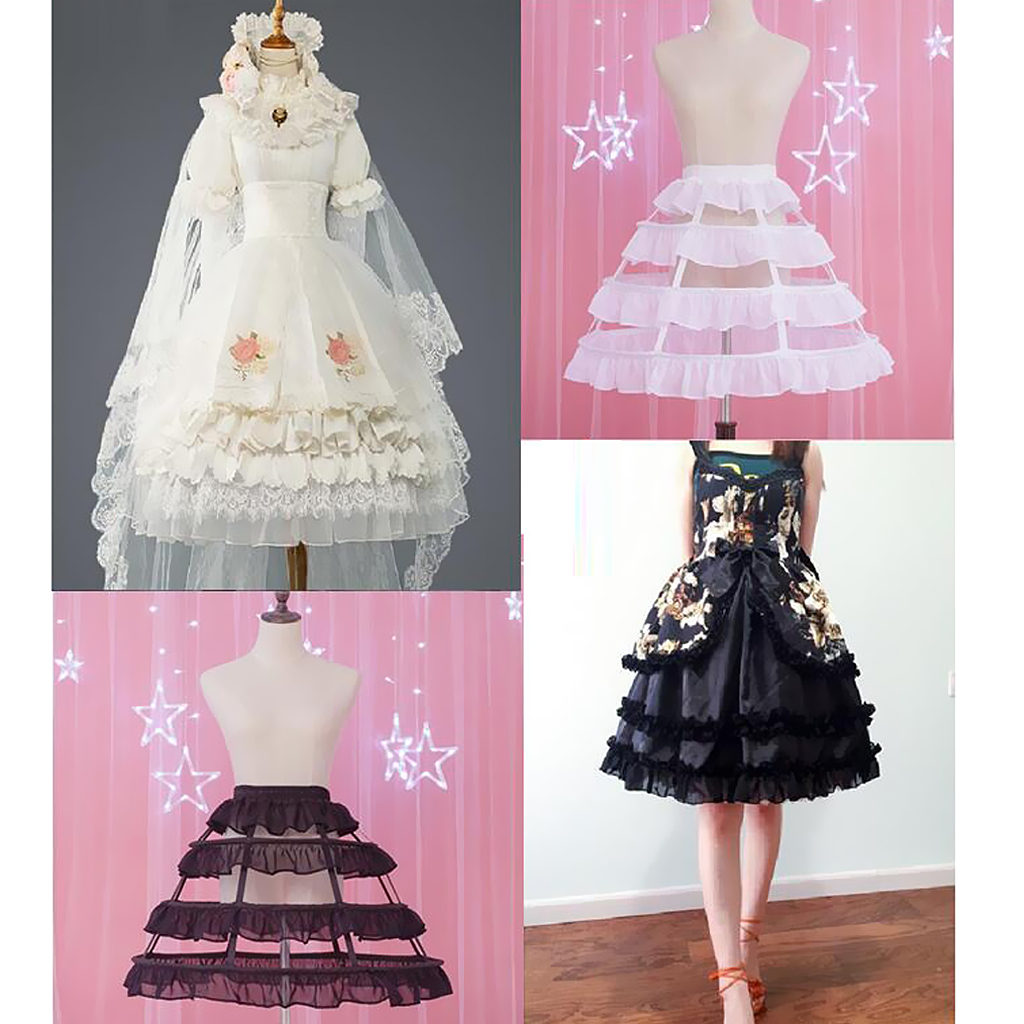 Wedding Dress Petticoat Crinoline Slips Half Slip White Black 48cm Underskirt Hoopskirt Ball Gown Bridal Dress Hoop(China)