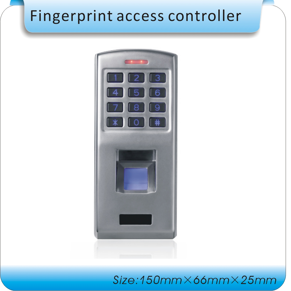 Password fingerprint access control machine Waterproof  Metal Case Anti-Vandal Biometric Fingerprint & keypad biometric fingerprint access controller tcp ip fingerprint door access control reader