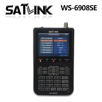 WS-6908SE meter Support KB-LIGHT BACKLIGHT satellite finder ws 6908se Satlink mi box android DVB-S FTA