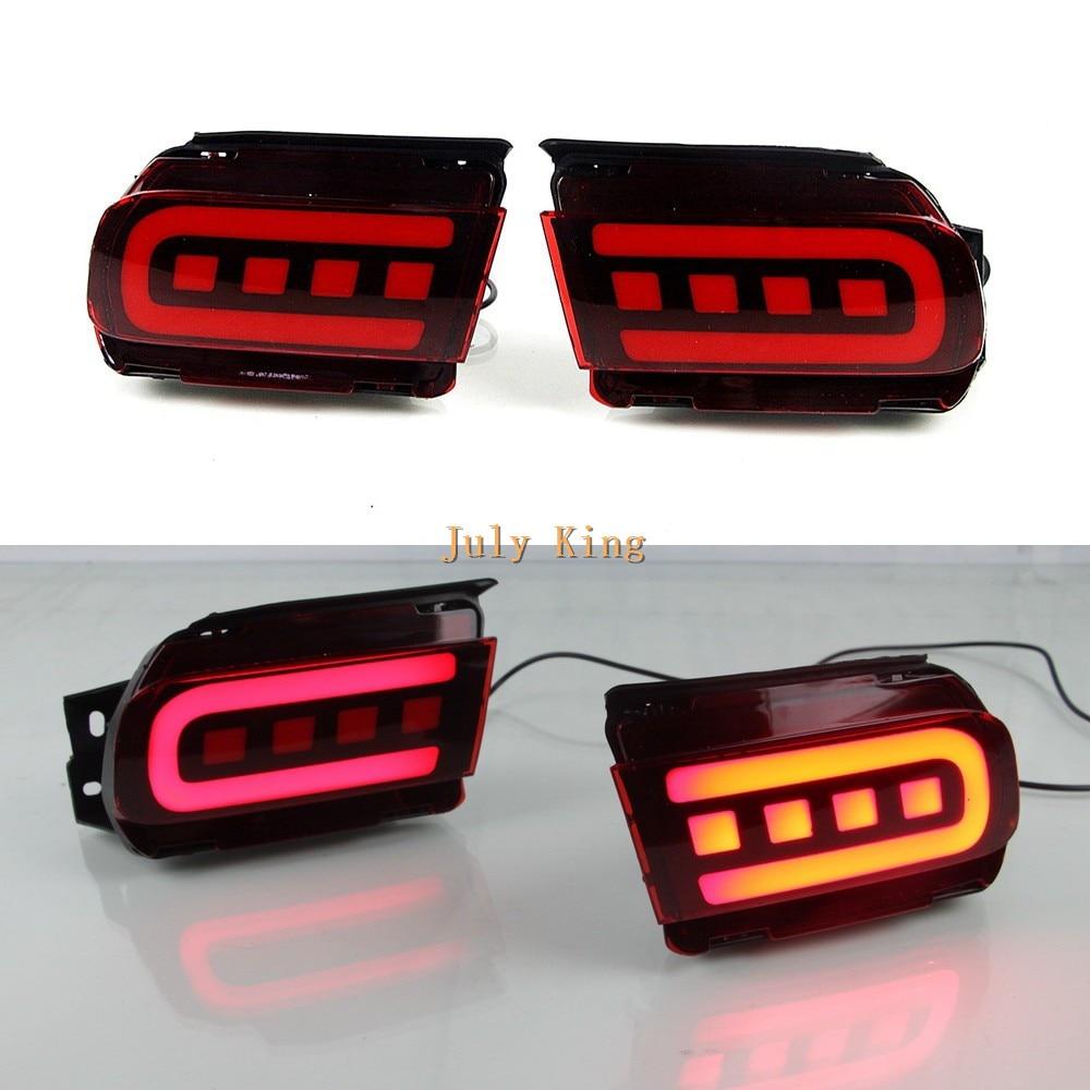 July King Car LED Brake Lights + Night Driving Light Case for Toyota Land Cruise Prado 2018 2019, LED Light Guide Warning Light