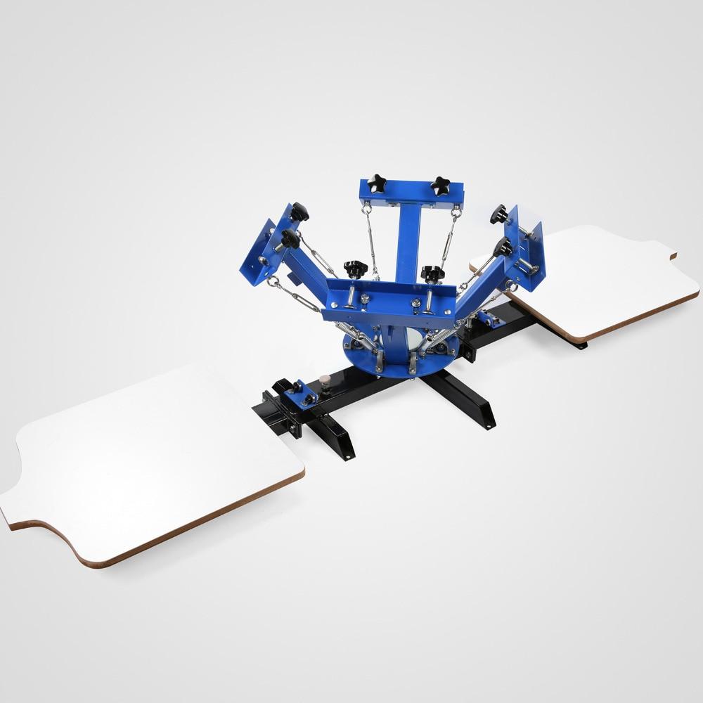 VEVOR Brand New 4 Color 2 Station Silk Screening Screenprint Press Screen Printing Machine