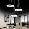 Creative Modern LED Pendant Lights Annulus Single Head Hanging Lamp Dining Room Livingroom Pendant Lights 110V 220V Warm White