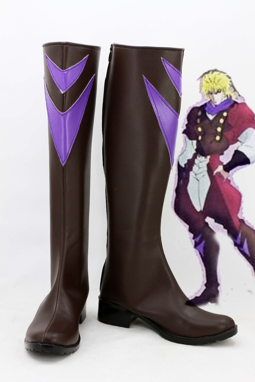 Jojo's Bizarre Adventure Cosplay Dio Brando Cosplay Boots Shoes Adult Men Party Halloween Shoes Custom Made Boots