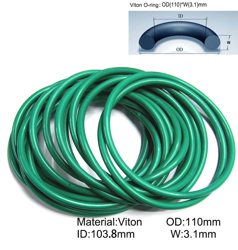 30piece Size 110mm 103 8mm 3 1mm Viton o ring seal dichtung green Gasket of motorcycle