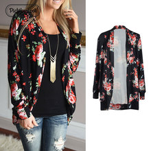 Pickyourlook Blouses And Shirt Cardigan Women Long Sleeve Floral Printed Lady Tops Female Fashion Harajuku Chemise