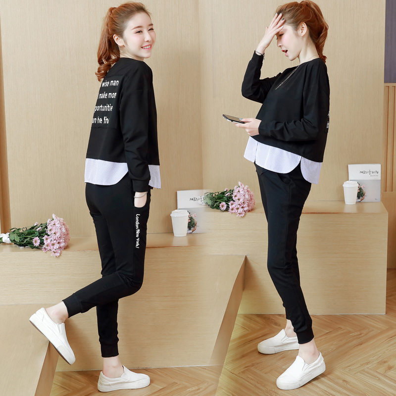 2863# 2019 Spring Fashion Maternity Clothing Suits Tees + Belly Pants Sets Sports Casual Clothes for Pregnant Women Pregnancy2863# 2019 Spring Fashion Maternity Clothing Suits Tees + Belly Pants Sets Sports Casual Clothes for Pregnant Women Pregnancy