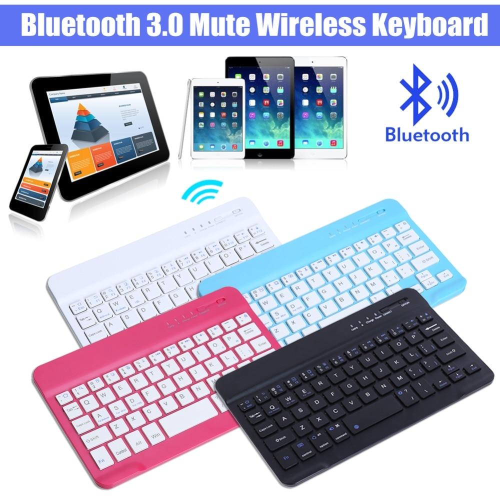 Universal Ultra Slim Wireless Bluetooth 3.0 Keyboard for Tablet PC Pad Smart Phone 59 Keys Mini Teclado Sem Fio Home Office
