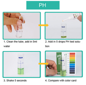 Image 5 - NO2 nitrit NH3 NH4 Amoniac PH dung dịch thử 3 trong 1 tươi mềm rạn san hô Bể Cá Cảnh Bể cá nước thử nghiệm
