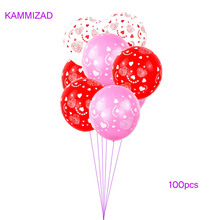 Pink red Latex Balloons 100pcs 12inch love Balloon Inflatable Wedding Decorations Air Balls Happy Birthday Party