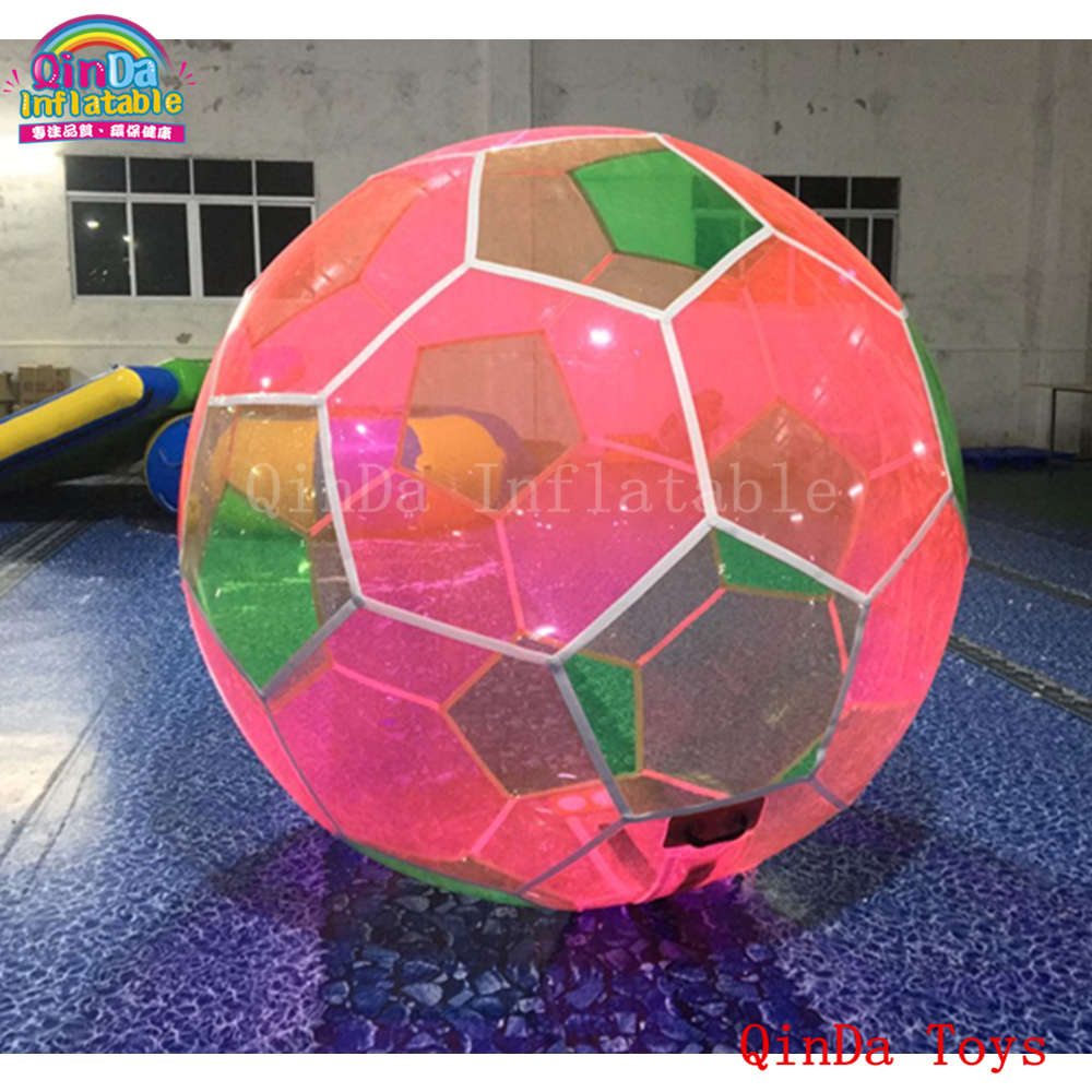 Free air pump water play equipment walking ball,jumbo soccer water ball for entertainment