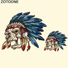 ZOTOONE Patches Iron-on Transfers Pirate Skull Patch for Clothes Jeans DIY Stickers Stripe Applique Parches Para La Ropa D