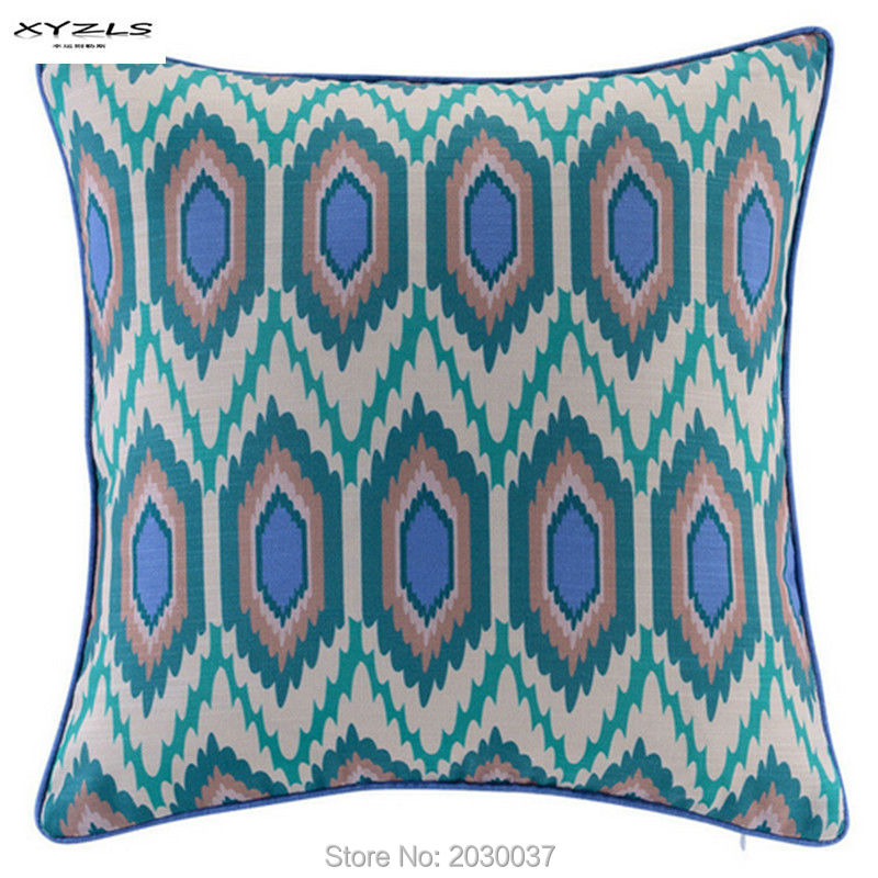 XYZLS 2016 High Quality Geometric Cushions Pillowcase for Sofa Couch Chair Seat Home Wedding Decoration 45x45cm