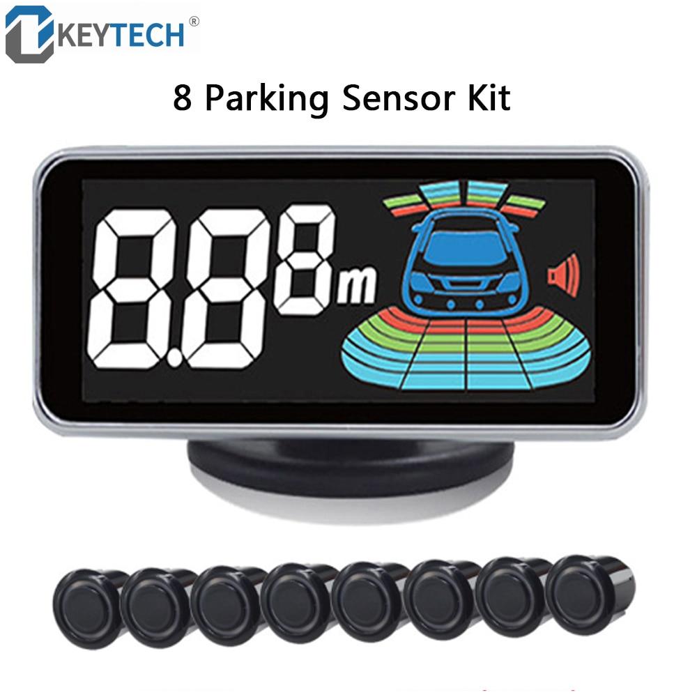 OkeyTech 8 Sensors Parking Sensor Auto Automobile Reversing Radar Parking Car Detector Parking Assistance Parking Radar