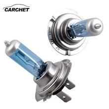 Carchet 10 pcs 12 v 100 w 화이트 6500k 블루 자동차 헤드 라이트 램프 전구 스폰지 h7 자동차 조명 12 v 유니버설 자동차 헤드 라이트