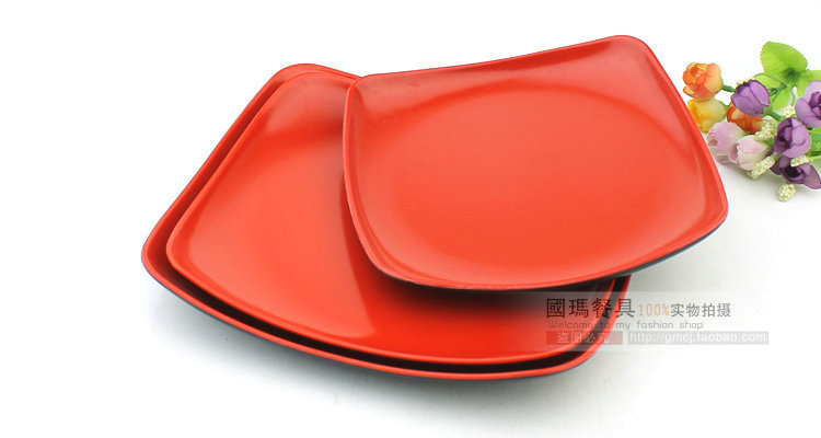 6INCH Top Quality China Dinnerware Brand Dishes Vintage Black Square Fruit Plate Dish Christmas Plastic Cake Plate Free Shipping-in Disposable Plates from ...  sc 1 st  AliExpress.com & 6INCH Top Quality China Dinnerware Brand Dishes Vintage Black Square ...