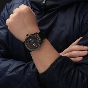 Image 5 - 2019 Luxe Merk Naviforce Datum Quartz Horloge Mannen Casual Militaire Sport Horloges Lederen Horloge Mannelijke Relogio Masculino Klok
