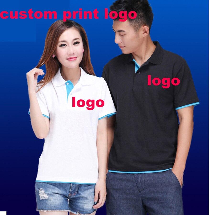 Custom Poloshirt Customized Printing Logo Service Screen Embroidery