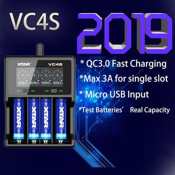 XTAR VC4S QC3.0 Fast Charging, Max 3A for single slot Apply to 3.6/3.7v li-ion IMR/INR/ICR/Battery 18650 10440 14500 20700 21700 image