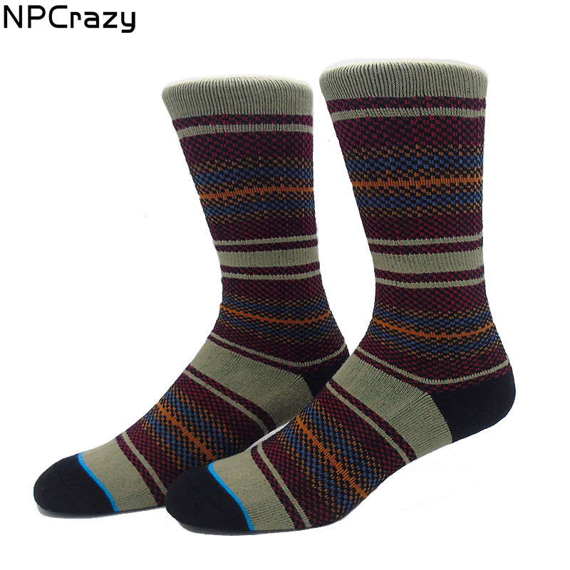 Tribal Strip Socks Skateboard Cotton Towel Bottom Basketball Socks for Men Terry Skiing Stocking Snowboard