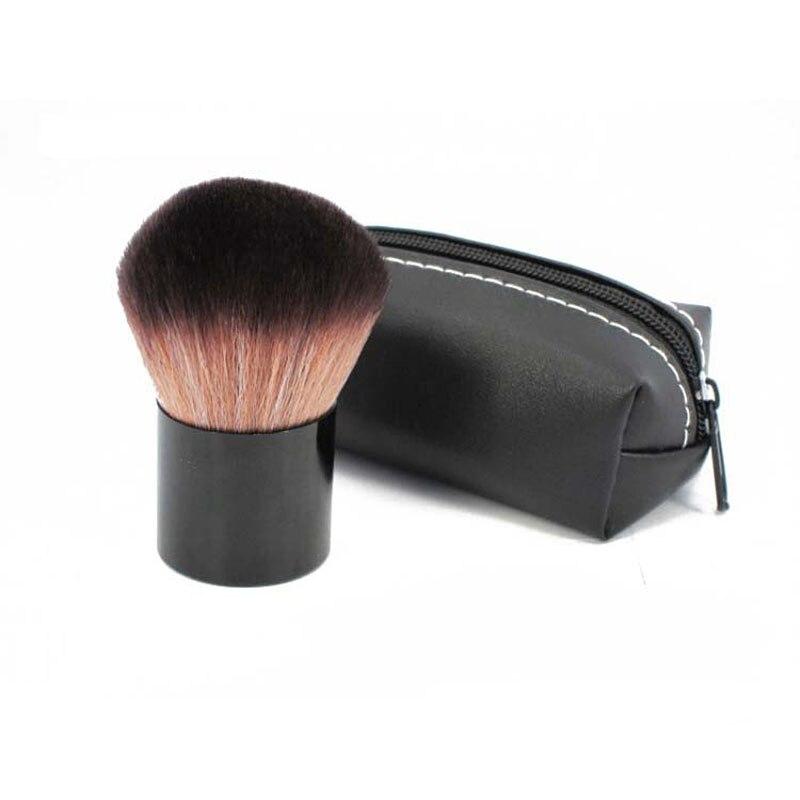 Pincel de Maquiagem Em Pó profissional Pincel de Blush Portátil Grande Maquiagem Cosméticos Escova com PU Bolsa Frete Grátis