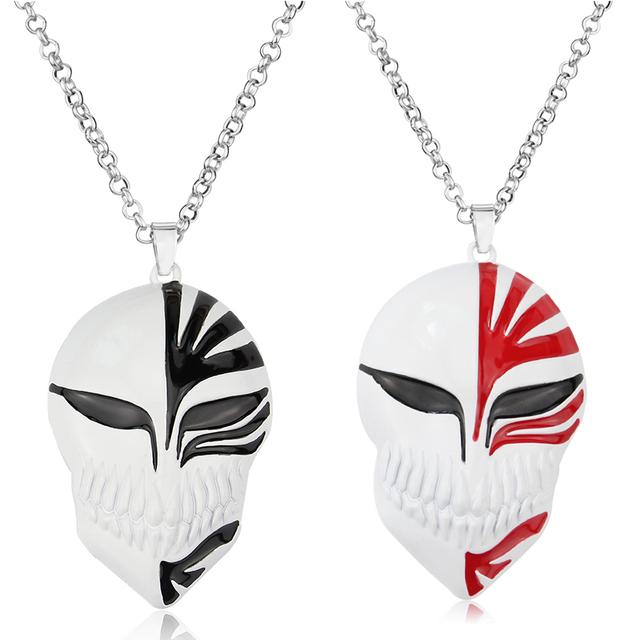 Punk Anime Bleach Skull Mask Logo Necklace