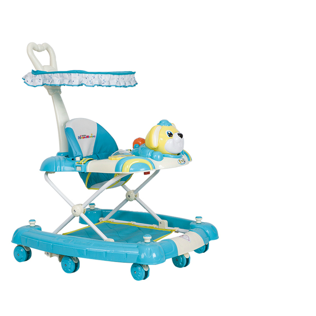 New Arrival Baby Walker Multifunctional Anti Rollover Baby Scooter U Type With Music Plate 7-18 months Portable Folding Walkers