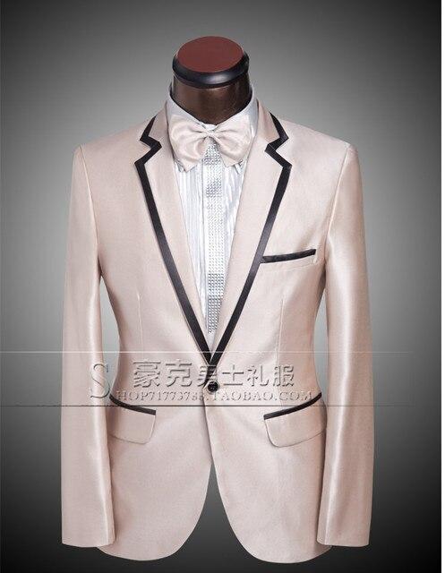 2015 Masculino conjunto Terno masculino vestido formal do noivo terno do casamento do noivo terno para o cantor dancer stage show