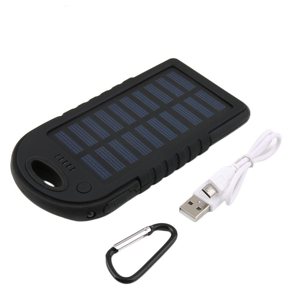 Ultra thin Dual USB Waterproof 5000mAh Solar Power Bank Battery USB Charger Powerbank for Mobile Phone For iphone For Samsung|Mobile Phone Chargers| |  - title=
