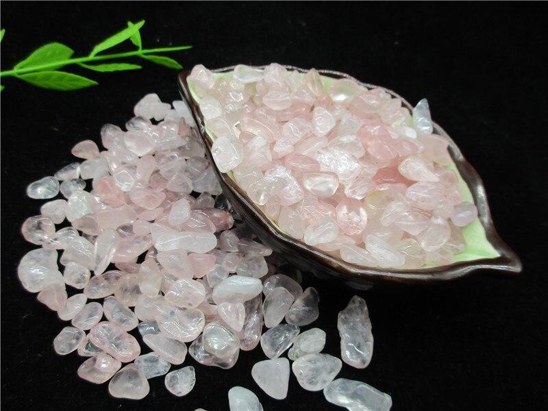 En gros naturel rose cristal cristal pierre gravier spécimen Aquarium gravier décoration - 5