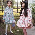 Free Shipping Retail Children's Coat girls 100% Cotton gauze Jackets Kids Clothes Baby girls Outerwear