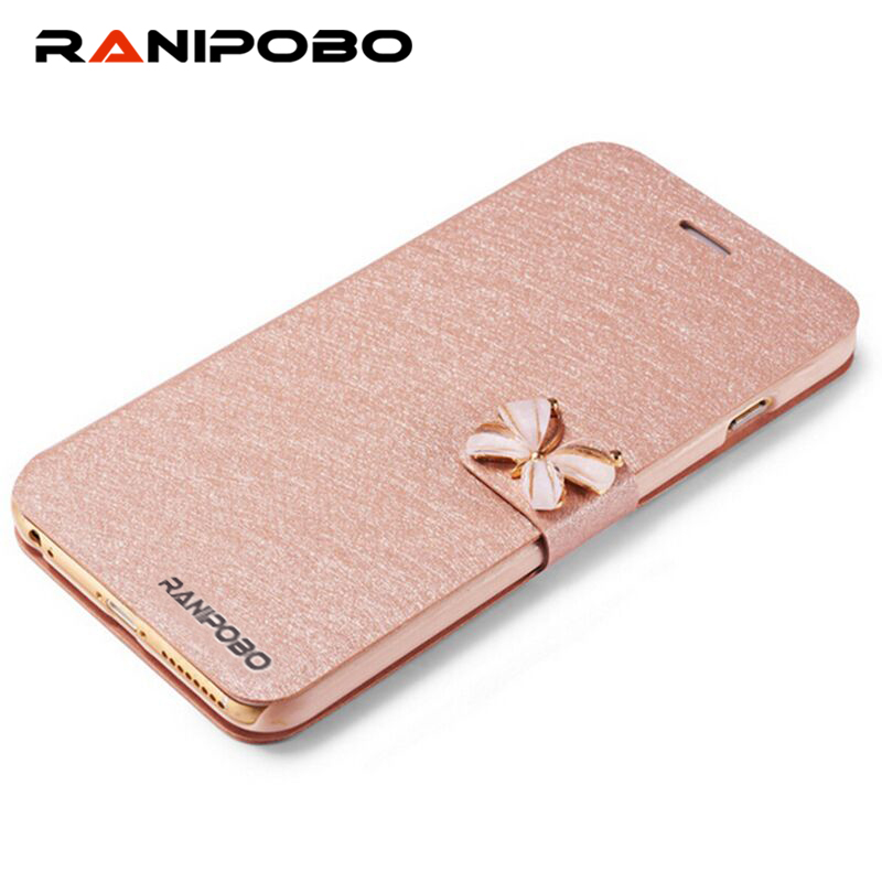 5 5s Luxury Crystal bow-knot Leather Wallet Card Holder Flip Stand Case Cover For iphone 6/6S 4.7