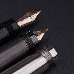 Luxus Volle Metall Körper Brunnen Stift 10K Gold Nib Tinte Schreiben Stifte Versteckte rotary tinte absorber Business büro schreibwaren stift H718