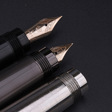 Pluma estilográfica de lujo de cuerpo totalmente de Metal, pluma de escritura de tinta dorada de 10K, absorbente de tinta rotativa oculta, bolígrafo de papelería para oficina y negocios H718