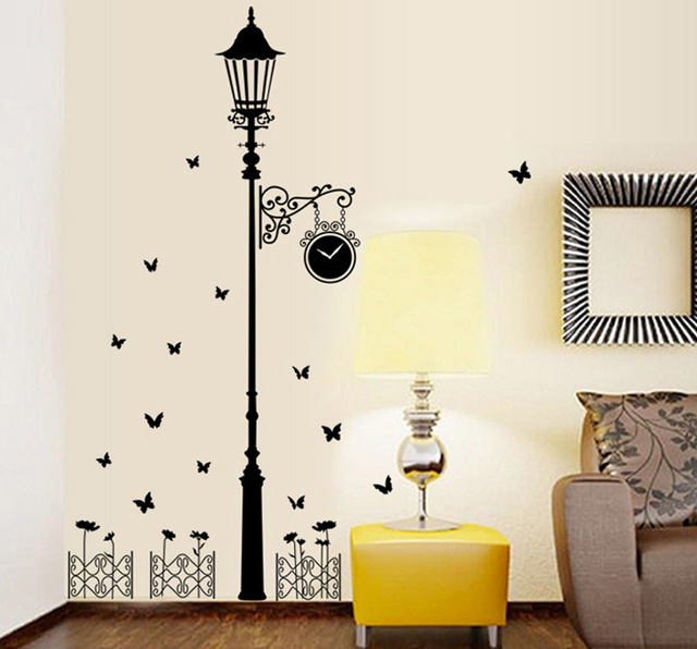 Personality corridor lamp background porch is decorated wall stickers household paste of foreign trade