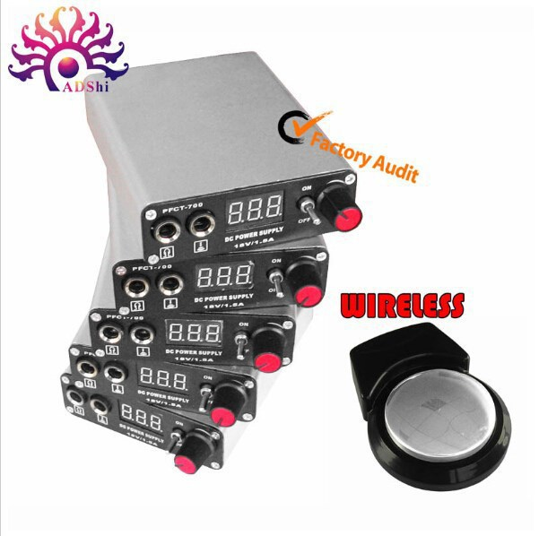 2017 Hot sale LCD Power Supply  LCD Display Black Wireless Tattoo Power Supply For Permanent Makeup Tattoo Kit free Shipping 35000r import permanent makeup machine best tattoo makeup eyebrow lips machine pen