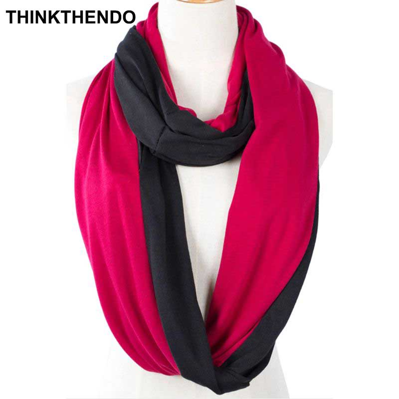 Womens Two Color Infinity Fashion Scarves Wrap Hidden