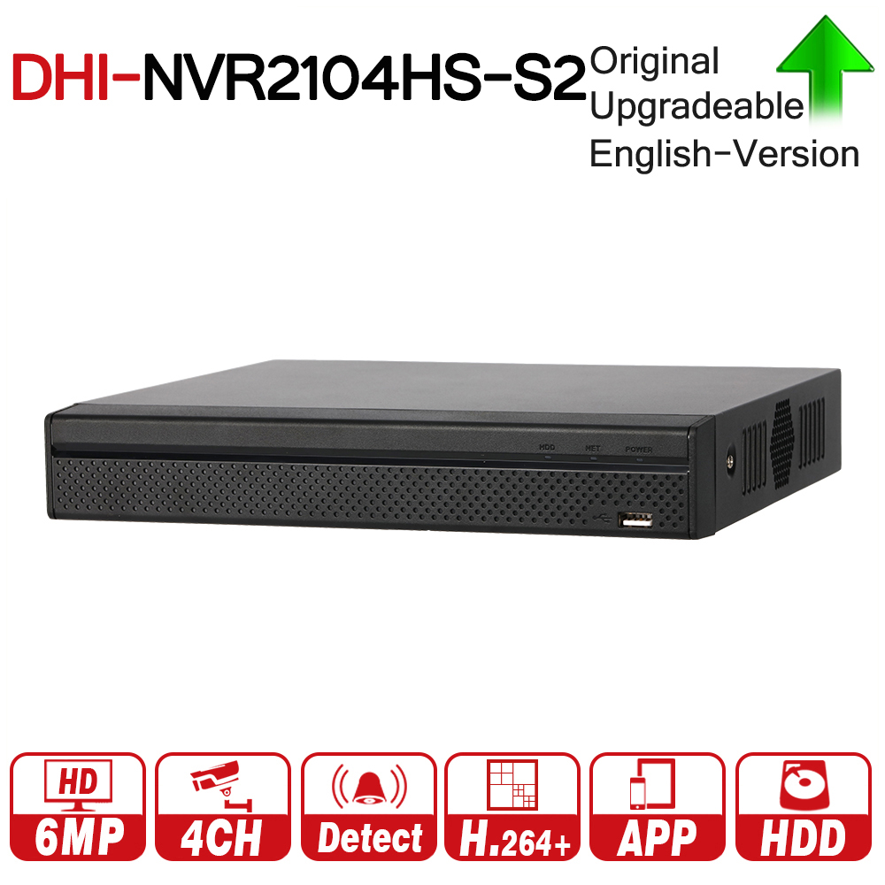 цена на DH NVR2104HS-S2 4 Channel Compact 1U Lite Network Video Recorder With SATA Interface Support H264+ For IP Camera CCTV System