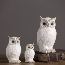 Resin Retro and Nostalgic Owl figurines Animal Arts Crafts fairy garden Birthday gifts home decoration accessories