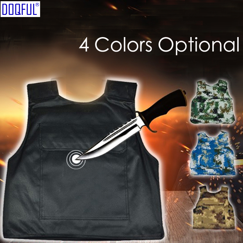 Tactical Hard Stabproof Vest Outdoor Safety Clothing Stab Proof Vests Anti Cut Personal Self Defense Tungsten Steel Iiner Plate