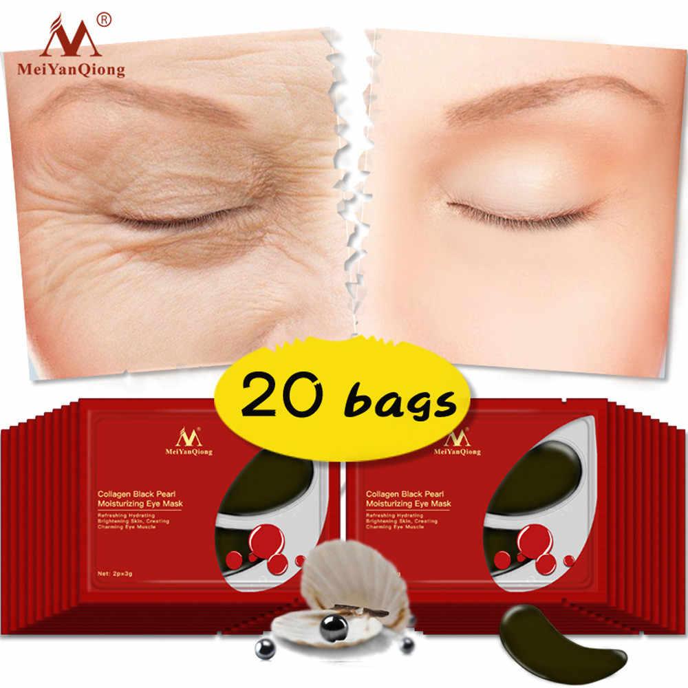 Parche debajo del ojo negro pera colágeno zona ocular máscara antienvejecimiento Dark Circle herramientas de cuidado de la piel 8,22