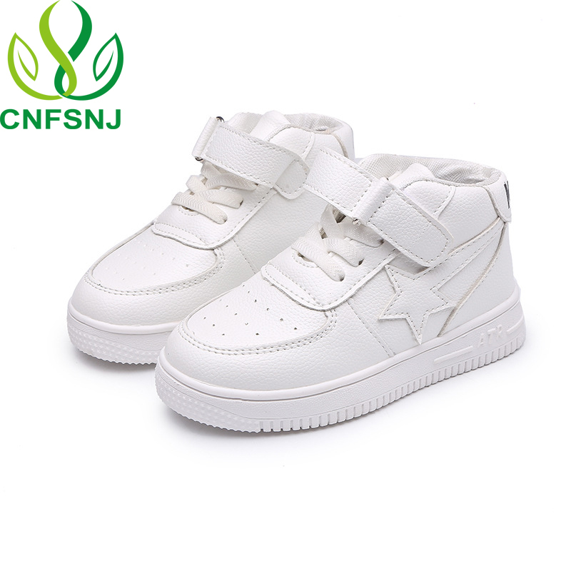 CNFSNJ 2018 Autumn Winter Canvas Sneakers Boys Girls Sneakers Leather Kids Children Casual Shoes Sports For Kids School Shoes