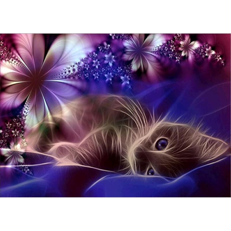 3D Diamond embroidery 5d diy diamond Painting Cross Stitch kits cat animal Mosaic pattern arts and crafts gift