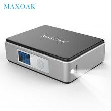 MAXOAK 5200 мАч Мини Внешний аккумулятор портативный внешний аккумулятор цифровой дисплей аккумулятор зарядное устройство мобильный телефон