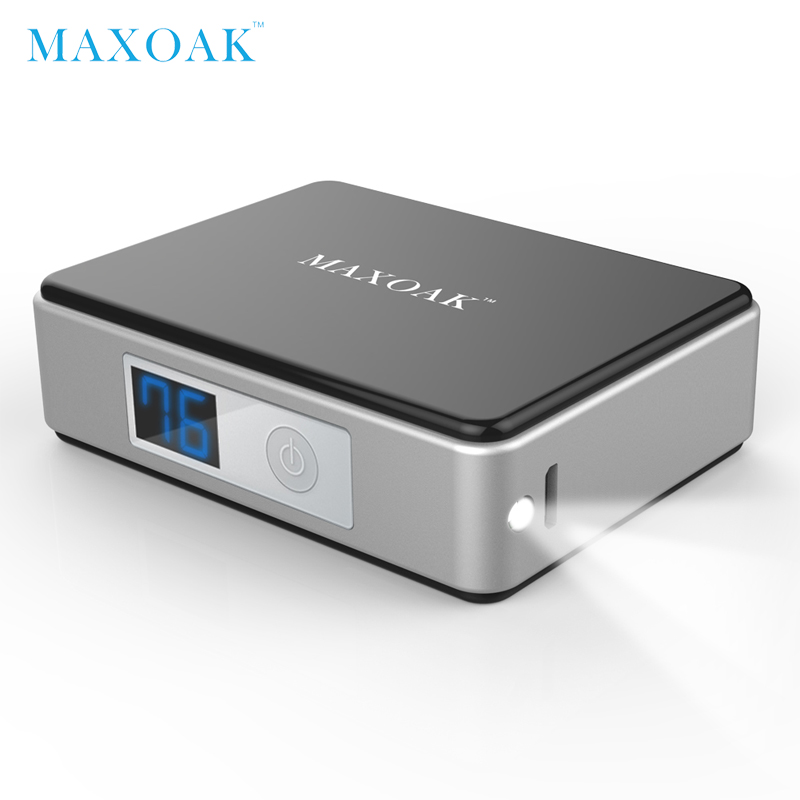MAXOAK 5200mAh 18650 mini power bank portable external battery Digital Display battery bank charger mobile phone