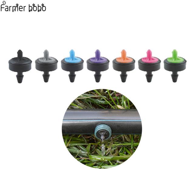 50 Pcs Adjustable Flow Pressure Compensating Dripper Emitter Shunt  Shunt Irrigation Dripper Garden Drip System Fixed Flow