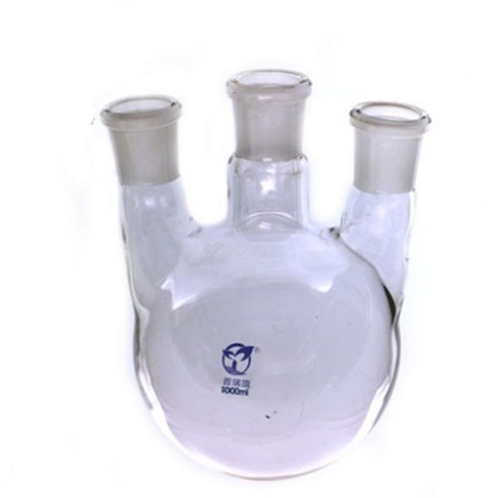 1000ml,24/29*3,3-neck,Round bottom straight Glass flask,Lab Boiling Flasks,Three neck laboratory glassware 30000ml 24 3 joint 3 neck round bottom straight necks flask lab glassware