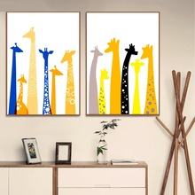 Cartoon Minimalist Giraffe Posters and Prints Wall art Decorative Picture Canvas Painting For Living Room Home Decor Unframed lips pop art design posters and prints wall art decorative picture canvas painting for living room home decor unframed