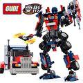 building blocks Transform Series Optimus Prime model building kids Transformation Robot Car Truck bricks Toys christmas gift