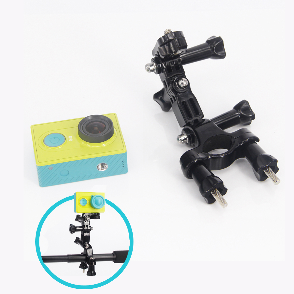 GoPro accessories Bike Motorcycle Handlebar Seatpost Pole Mount&3 Way Adjustable Pivot Arm for Gopro Hero2 3 3+ xiao yi