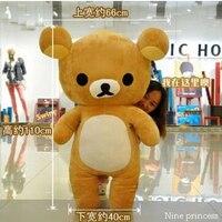 110 см Kawaii Большой коричневый японский стиль rilakkuma плюшевые игрушки мишки кукла животных подарок на день рождения Бесплатная доставка